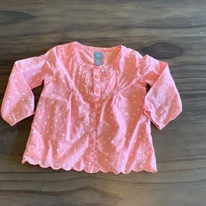 Baby Gap pink and hear top
